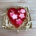 Мыло Сердце цветочки