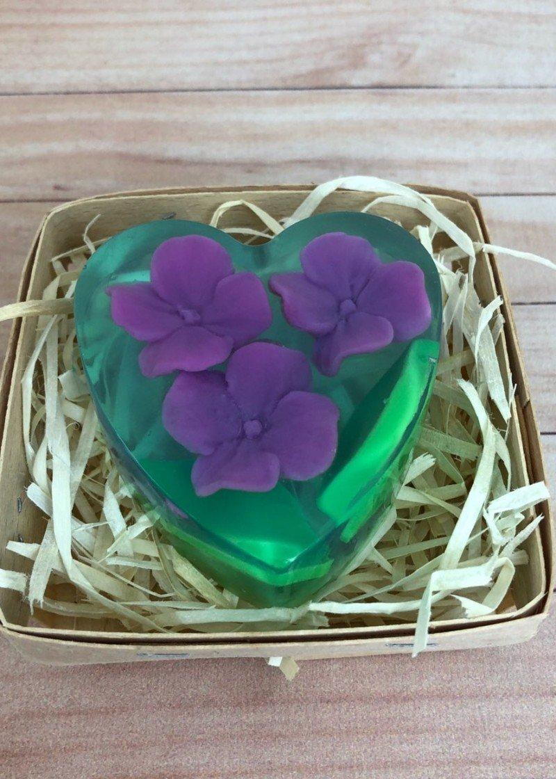Мыло Сердце васильки