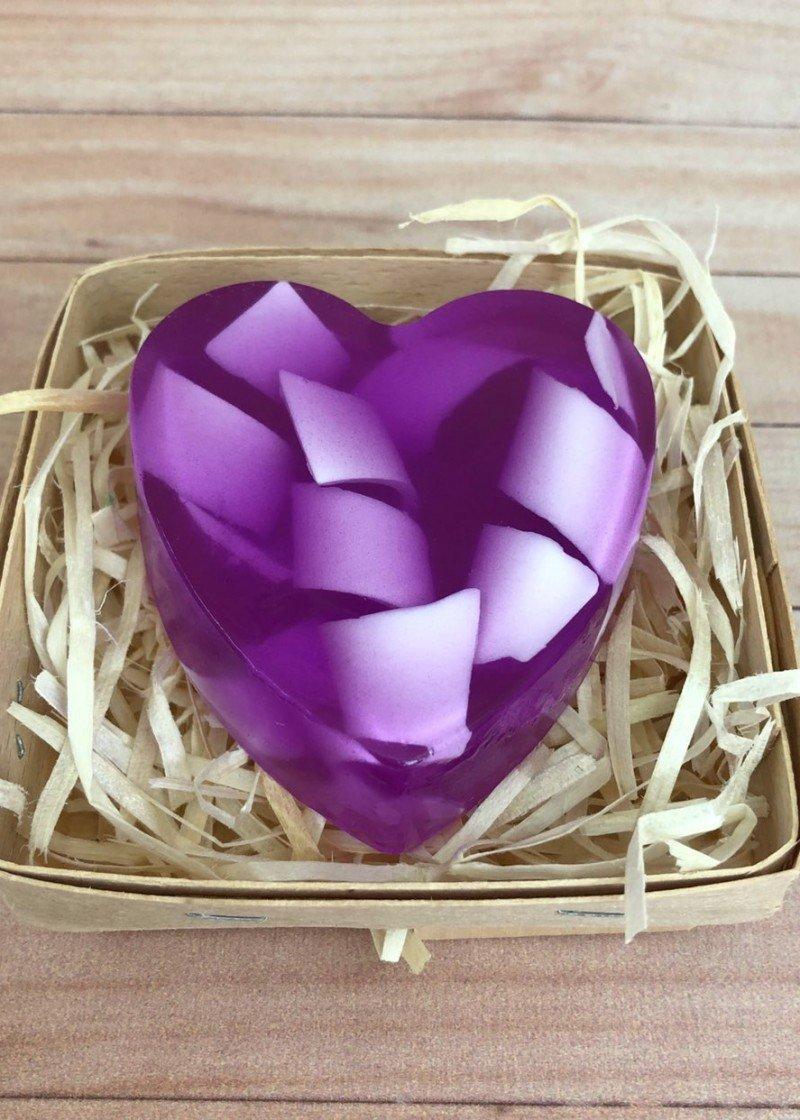 Мыло Сердце завитки