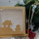 Коробка крафт Новый год