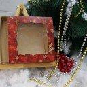Коробка красная Снежинка