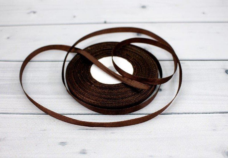 Лента атласная цвет шоколадный (бабина)