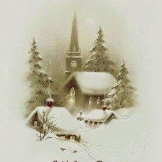 C Рождеством христовым бирочка декоративная