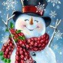 Снеговик бирочка декоративная