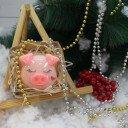 Свинка с сердечком в корзинке