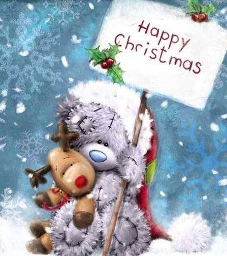 Happy Cristmas Тедди с оленем