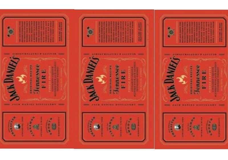 Наклейка Jack Daniels красная