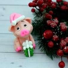 Мыло Свинка Новогодняя с подарком