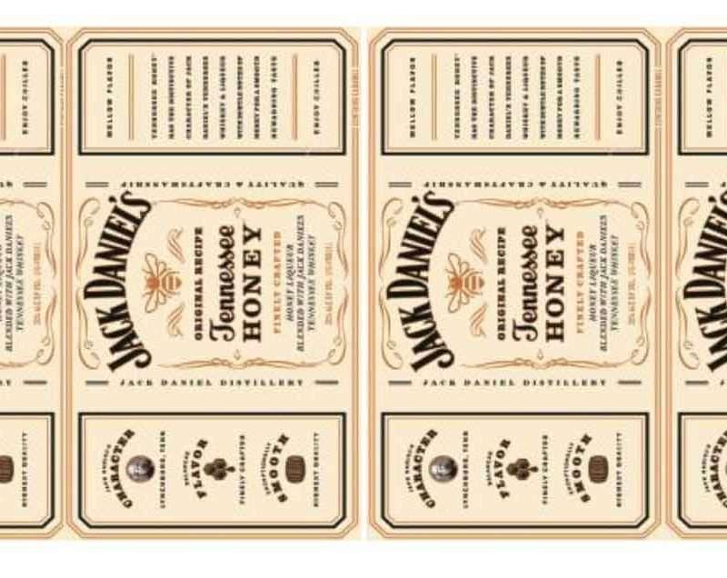 Наклейка Jack Daniels белая