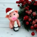 Мыло Свинка Новогодняя с шампанским