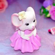 Мышка Принцесса Силикон 3Д