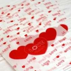 Пакет с сердечками 13*18 с ручкой 10 шт