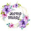 Наклейка Синие цветочки_Hand Made