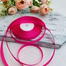Лента атласная цвет насыщено ярко-розовый