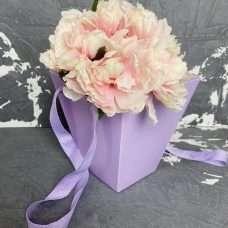 Флористическая коробка Трапеция лиловая