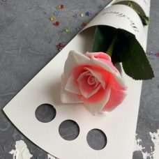 Коробка для розы SM белая