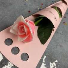 Коробка для розы SM розовая
