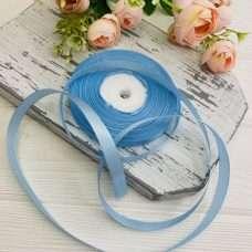 Лента атласная цвет голубой
