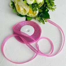 Лента Парча розовая